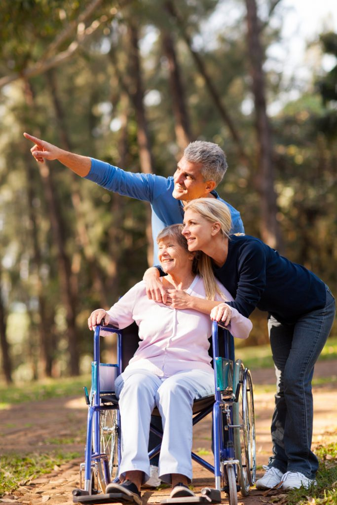 nursing home resident and family